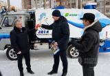 Группа «Илим» подарила братской спортшколе «Рекорд» ледозаливочную машину «Умка»
