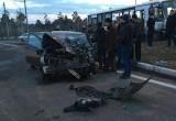 На федеральной трассе в Братске столкнулись иномарка и рейсовый автобус (Обновлено)